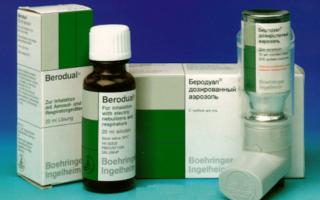 Беродуал для ингаляций: инструкция по применению и составляющие