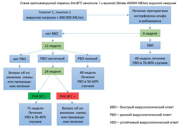 Чем опасен генотип 1а при гепатите С, какие есть схемы лечения