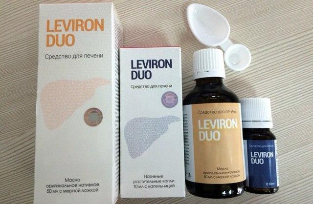Leviron Duo для очистки печени и лечения печеночных патологий
