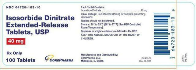Изосорбида динитрат: инструкция по применению, цена и отзывы