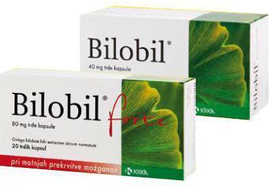 Билобил: инструкция по применению, цена, отзывы врачей и аналоги