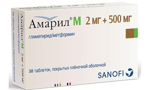 Таблетки Амарил М: цена, отзывы, инструкция по применению