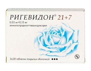 Противозачаточные таблетки Ригевидон: инструкция по применению, отзывы врачей, цена, побочные действия