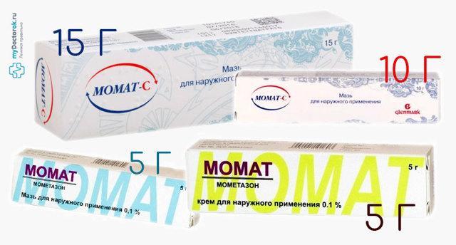Мазь и крем Момат: инструкция по применению, цена, отзывы