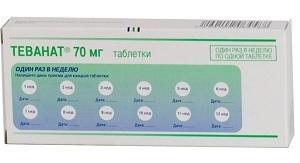 Таблетки Теванат: инструкция по применению, цена и отзывы