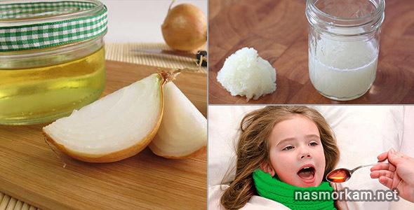 Лук с медом или сахаром и молоко с луком - рецепты от кашля